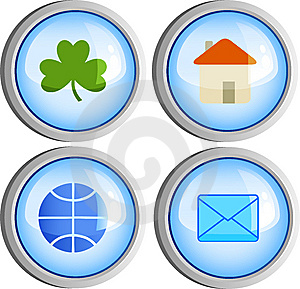 Four Buttons Royalty Free Stock Photography - Image: 8661487