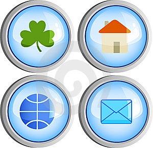 Cuatro Botones Fotografía de archivo libre de regalías - Imagen: 8661487