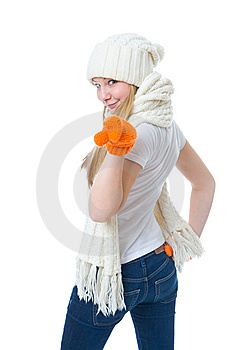 The Young Attractive Girl Royalty Free Stock Photography - Image: 8661497