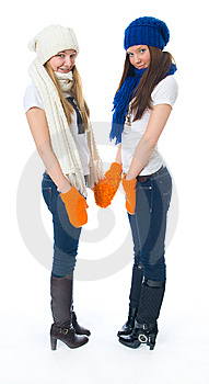 Two Attractive Girls Stock Photography - Image: 8661532