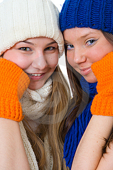 Two Attractive Girls Stock Photography - Image: 8661572