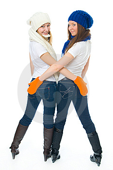 Two Attractive Girls Royalty Free Stock Image - Image: 8661576