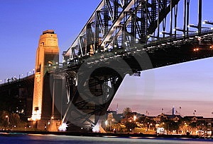 Sydney Harbour Bridge At Sunset Stock Photography - Image: 8661612