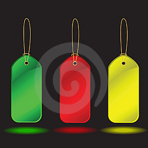 Collection Of  Labels Over Black Background Royalty Free Stock Photos - Image: 8662018