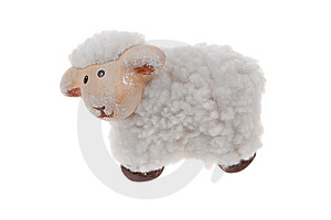 Cute Sheep Toy Isolated Royalty Free Stock Photo - Image: 8662035