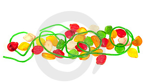 Fruit Jelly Candy Isolated Stock Images - Image: 8662084