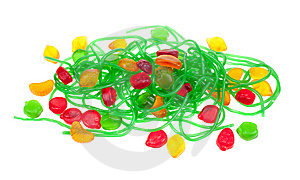 Fruit Jelly Candy Isolated Royalty Free Stock Photo - Image: 8662105
