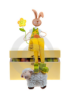 Easter Bunny On A Box Stock Photo - Image: 8662160