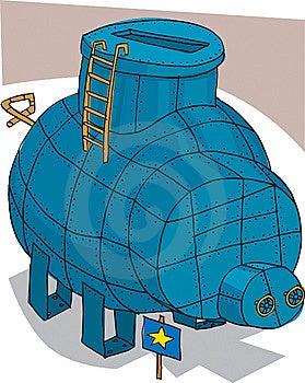 Blue Money Box Stock Images - Image: 8662424