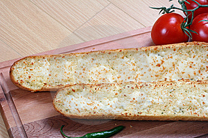 Garlic Bread And Tomatoes Stock Image - Image: 8662471
