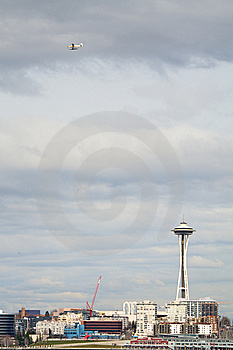Space Needle And Float Plane Royalty Free Stock Photo - Image: 8662875