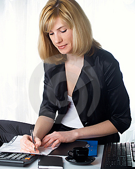 La Femme D'affaires Photo stock - Image: 8662940