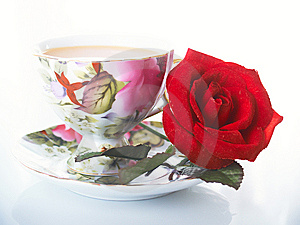 Rose And Cup Stock Image - Image: 8663091