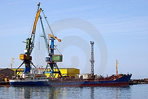 Ship In Seaports Beside Quay Stock Photos - Image: 8663233