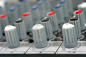 Audio Control Console Stock Photos - Image: 8663483