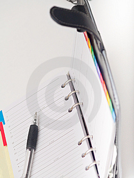 Office Stationary - Pen And Diary On White Stock Image - Image: 8663531