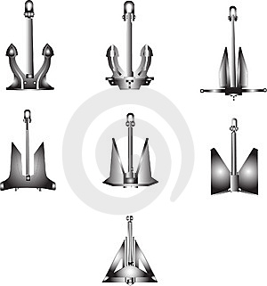 Anchors Royalty Free Stock Photography - Image: 8663537