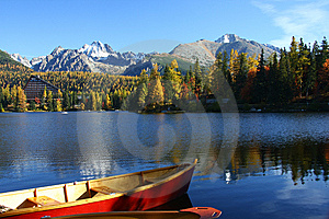 Nice Big Blue Lake With Boats Royalty Free Stock Images - Image: 8663749