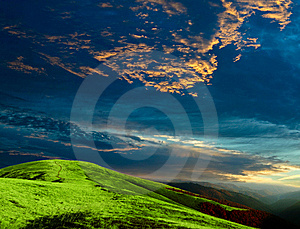Evening in mountains Royalty Free Stock Images