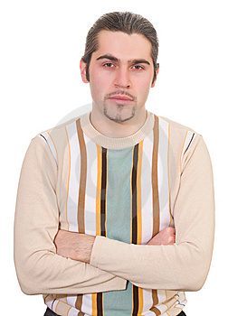 Young Serious Handsome Male In Sweater Isolated Royalty Free Stock Images - Image: 8663909