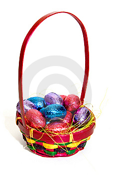 Easter Eggs In A Basket Royalty Free Stock Photos - Image: 8663928