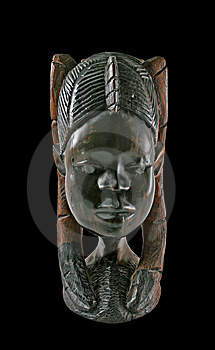Ebony Bust Of A Woman Royalty Free Stock Photos - Image: 8663988