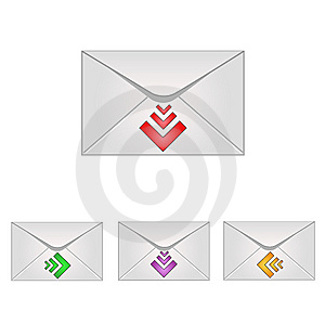 Email Icons Royalty Free Stock Images - Image: 8664099