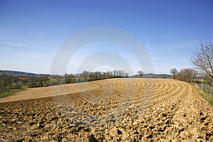 Ploughed Field Stock Image - Image: 8664221