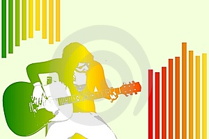 A Woman Playing Guitar Stock Photos - Image: 8664363