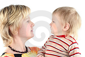 Mother And Her Little Son Royalty Free Stock Images - Image: 8664839