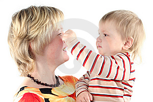 Mother And Her Little Son Stock Image - Image: 8664861