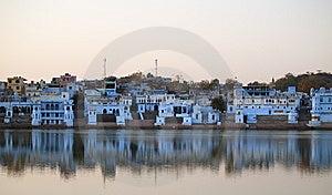Vista De La Ciudad De Pushkar Fotografía de archivo libre de regalías - Imagen: 8665257