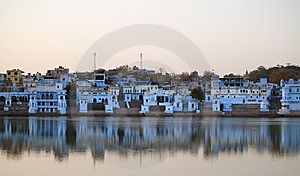 Pushkar Miasto Widok Fotografia Royalty Free - Obraz: 8665257