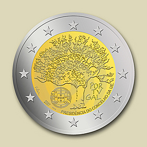 Portuguese 2 Euro Coin Royalty Free Stock Photo - Image: 8665685
