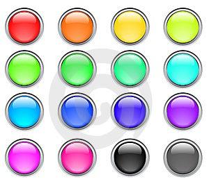 Botões Da Cor Fotos de Stock Royalty Free - Imagem: 8665758