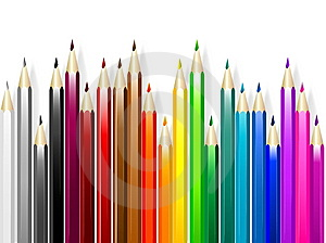 Colorful pencil Stock Photo