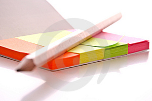 Post-it With Pen Royalty Free Stock Photo - Image: 8666085