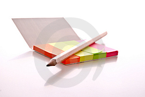 Post-it With Pen Royalty Free Stock Photo - Image: 8666105