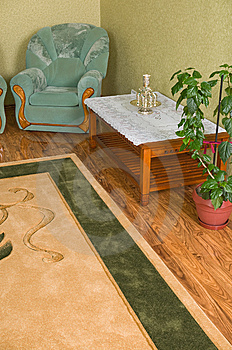 Green Armchair In A Room Corner. Stock Photos - Image: 8666463