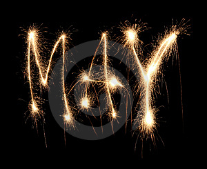 Month May Sparkler Royalty Free Stock Photography - Image: 8666757