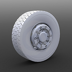 Truck Wheel Royalty Free Stock Image - Image: 8666926
