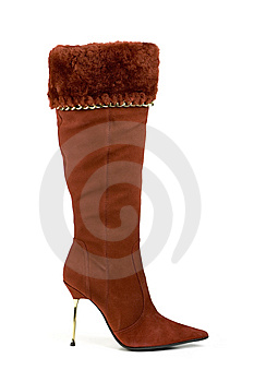 High Boot, Isolated On White Royalty Free Stock Photo - Image: 8667925
