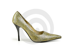 Shoe, Isolated On White Stock Image - Image: 8667941