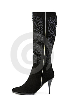High Boot, Isolated On White Royalty Free Stock Photos - Image: 8667958