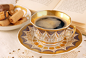 Old Fashioned Cup Of Coffee Stock Images - Image: 8668284