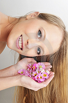 Womwn With Flower In Spa Stock Photography - Image: 8668602