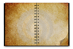 Old Notepad Stock Image - Image: 8668621
