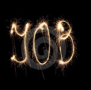 Word Job Written Sparkler Stock Image - Image: 8668741