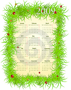 Vector Illustration Of Easter Calendar Royalty Free Stock Photo - Image: 8668755