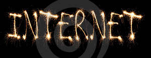 Word Internet Written Sparkler Stock Photo - Image: 8669030